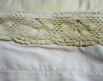 Standard Size Single Pillow Case with Lace