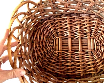 Rustic Woven Basket Bowl