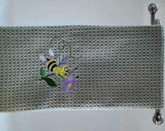 Bee Microfiber Hand Towel