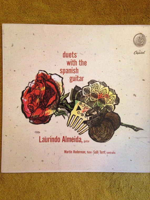 Duets with Spanish Guitar Laurido Almeida• Salli Terri • Martin Ruderman •Vinyl •LP • Record • Flamenco •1950s