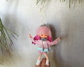 Holiday Sale! Vintage Japanese Import Angelic Rock Baby Christmas Ornament. US shipping included in price