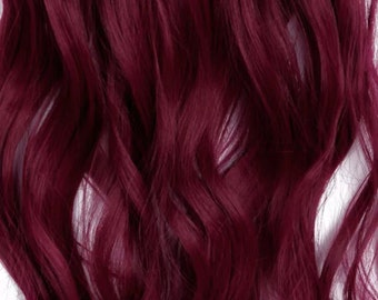 Red/Maroon Clip In Extensions