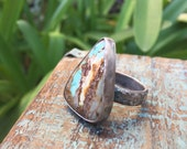 Turquoise Sky Ring- Size 7.5  Silver Ring