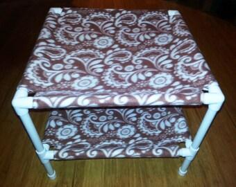 The Hammock Stack - Fleece Fabric - Mauve Paisley Pattern
