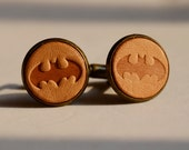 Vintage Style cufflinks - Personalized Super Hero Batman Cufflinks Wedding Cufflinks