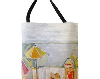 Beachy Keen LARGE Canvas Tote Bag