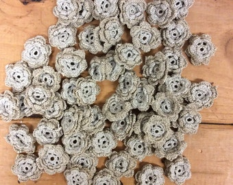 Crochet Flowers, qty 60