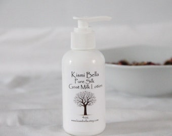 Face Cream- Hand and Body Lotion, Dry Skin, Coconut Goat Milk Lotion - Pure Silk, Bath and Beauty, Home and Living, Gifts For Her