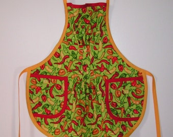 Chile Pepper Apron for child - Copyright 1997 by Mary's Harvest Thyme Aprons