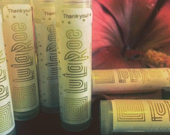 LuLaRoe, Lip Balm, 36, tubes, Chapstick, personalized, Label, Lularoe Consultant, Promotional, Advertising, Gold, Glitter, Confetti,