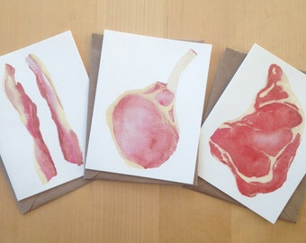 Set of 3 Cards - Meat Pack