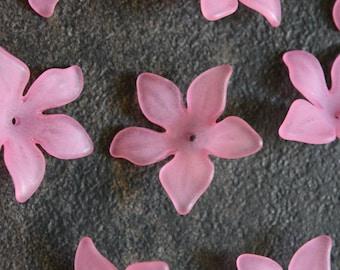 Lucite Flower Beads, Lucite Beads, Flower Beads, Pink lucite Beads