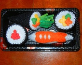 4pc. Sushi - Hand Made Catnip Toy