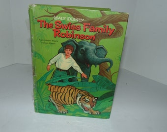 Vintage Antique Walt Disney Swiss Family Robinson book Whitman Hardcover Steve frazee 1960 illustrated