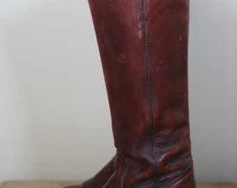 vintage womens tall frye boots oxblood size 7B