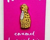 leopard lapel pin