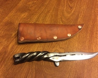 Hand Forged Horseshoe Knife- Number 1 Shoe