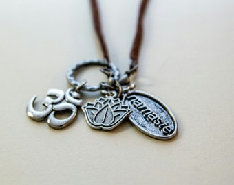 Namaste yoga om necklace