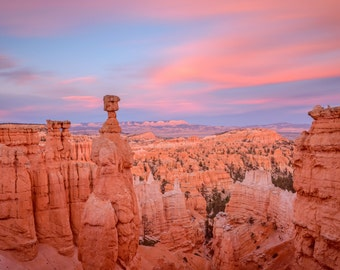 Bryce Canyon Landscape Photography Print - Utah National Park - Southwest - Sunset - MetalPrint Option - 11x14 16x20 20x30 24x36 30x40