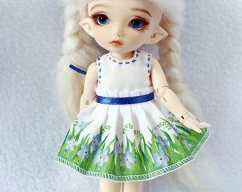 Dress for Lati yellow / Pukifee bjd doll