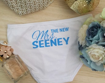 The New Mrs Undies; wedding underwear; personalised underwear; wedding undies; novelty wedding underwear;customised underwear;novelty undies