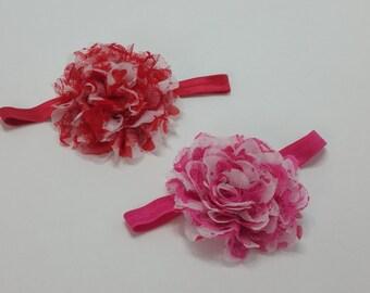 Baby VALENTINE'S DAY HEADBAND, Red Heart Headband, Hot Pink Heart Headband, Girl Valentines Headband, Infant Valentines Headband
