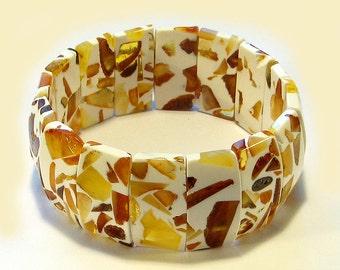Natural Baltic amber bracelet.
