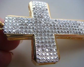 Diamond Covered Cross Pendant