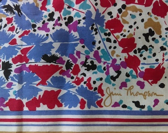 Jim Thompson Floral Collage Silk Scarf