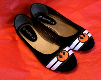 Handmade Star Wars Rebellion inspired Embroidered Flats