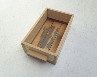 Kitchen Caddy Storage Box Handmade using Reclaimed Wood
