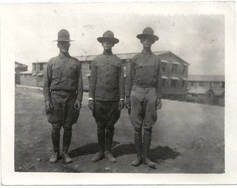 Old Photo Ww1 Us Soldiers Marines Uniforms 1910s Photograph snapshot vintage