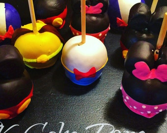 Mickey Mouse Clubhouse Inspired Candy Apples, Mickey, Minnie, Donald, Daisy, Goofy, Pluto