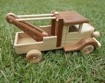 wooden Tow truck