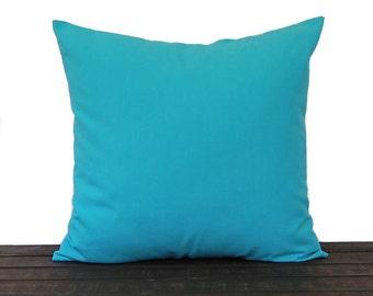 Aqua Turquoise throw pillow cover Mandarin Collection Blue pillow sham cushion cover