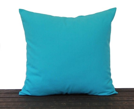 aqua turquoise throw pillow cover mandarin collection blue 87861