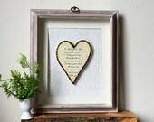 Anniversary Gift - Framed Heart