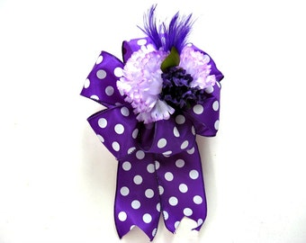 Purple birthday gift bow, Female gift bow, Special celebration gift wrap bow, Large purple gift bow, Gift wrap bow, Bow for females (GN113)