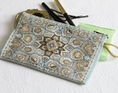 Turquoise Purse, Womens Wallet, Woven Fabric Purse, Keyring Pouch, Coin Wallet, Hip Purse, Turkish  pouch