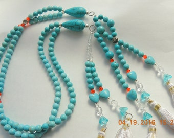 SGI Juzu - Turquoise 108 bead juzu  Beads Buddhist prayer / Meditation Beads made of Turquoise gemstone