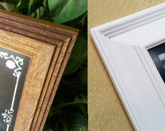 FRAME ADD ON for our Professionally Printed Signs - choice of white or brown