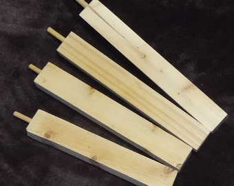 """Lot of All 4 Peace Pipe Stems, Finish Your Own Pipe Stem for Peace Pipe, Size 6"""" to 8"""""""