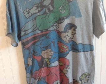 superman super hero t shirt vintage size S