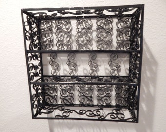Vintage Curly Metal 3 Layer Mid-Century SHELF