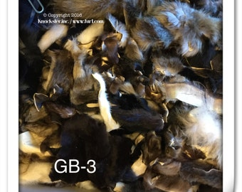 GB-3 Grab bag mixed various fur lot scrap pieces remnants coyote etc