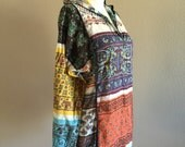 70s Paisley Print India Cotton Festival Hoodie