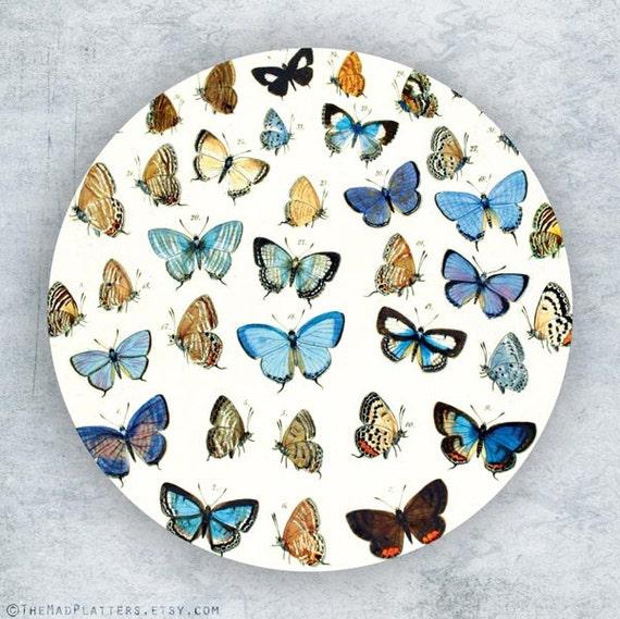 Butterflies II melamine plate