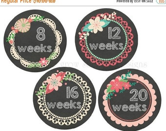 BIG SALE Pregnancy Stickers Belly Stickers Chalkboard Maternity Stickers Baby Bump Stickers Weekly Belly Stickers Expectant Moms Photo Props
