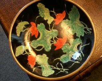 Brass and Enamel Poppy Bowl