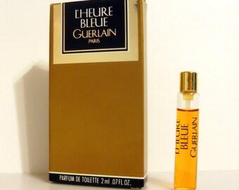 Vintage 1980s L'Heure Bleue by Guerlain 0.07 oz Parfum de Toilette Sample Vial in Box PERFUME